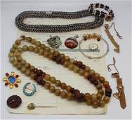 JEWELRY. Assorted Grouping of Gold and Silver.