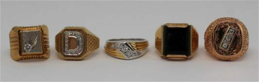 JEWELRY Mens Gold Ring Grouping