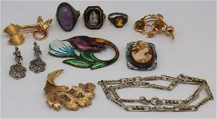 JEWELRY. Assorted Gold and Silver Jewelry Grouping