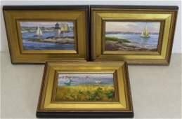 WILLIAM G. HANSON. 3 Signed Oil Paintings