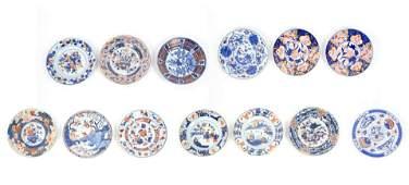 Group of 13 Chinese Imari Plates.