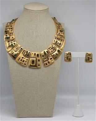 JEWELRY. Haroldo Burle Marx 18kt Gold and Polished