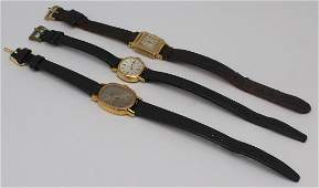 JEWELRY. Vintage Ladies Gold Watch Grouping.