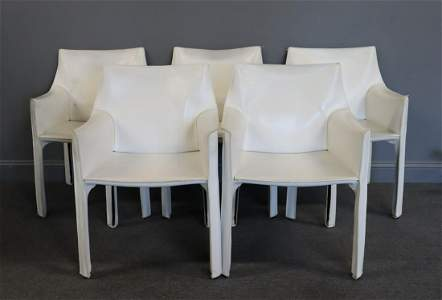 Mario Bellini Cassina 5 Cab Chairs.