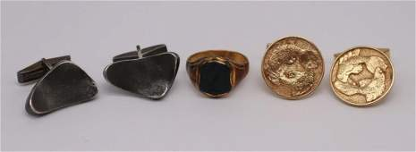 JEWELRY Assorted Gold and Silver Mens Jewelry