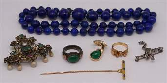 JEWELRY. Assorted Ladies Gold Jewelry Grouping.