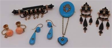 JEWELRY Assorted Victorian Gold Jewelry