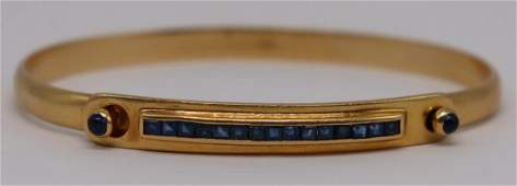 JEWELRY Cartier 18kt Gold and Sapphire Bracelet