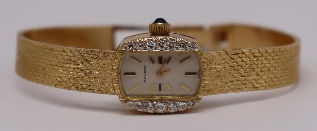 JEWELRY. Ladies Vintage 14kt Gold Movado Watch.