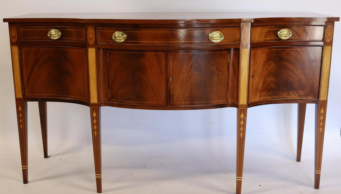 Antique And Fine Quality Inlaid Mahogany Sideboard