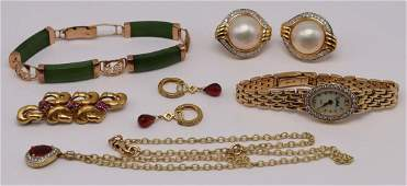 JEWELRY Assorted 14kt and 18kt Gold Jewelry