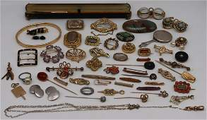 JEWELRY. 56 Pcs of Antique and Vintage Jewelry.