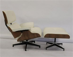 Amazing For Auction Eames Influence Lounge Chair And Ottoman 2 Pcs Unemploymentrelief Wooden Chair Designs For Living Room Unemploymentrelieforg