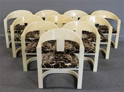 """MIDCENTURY. 10 Karl Springer """"Onnasis Chairs"""""""