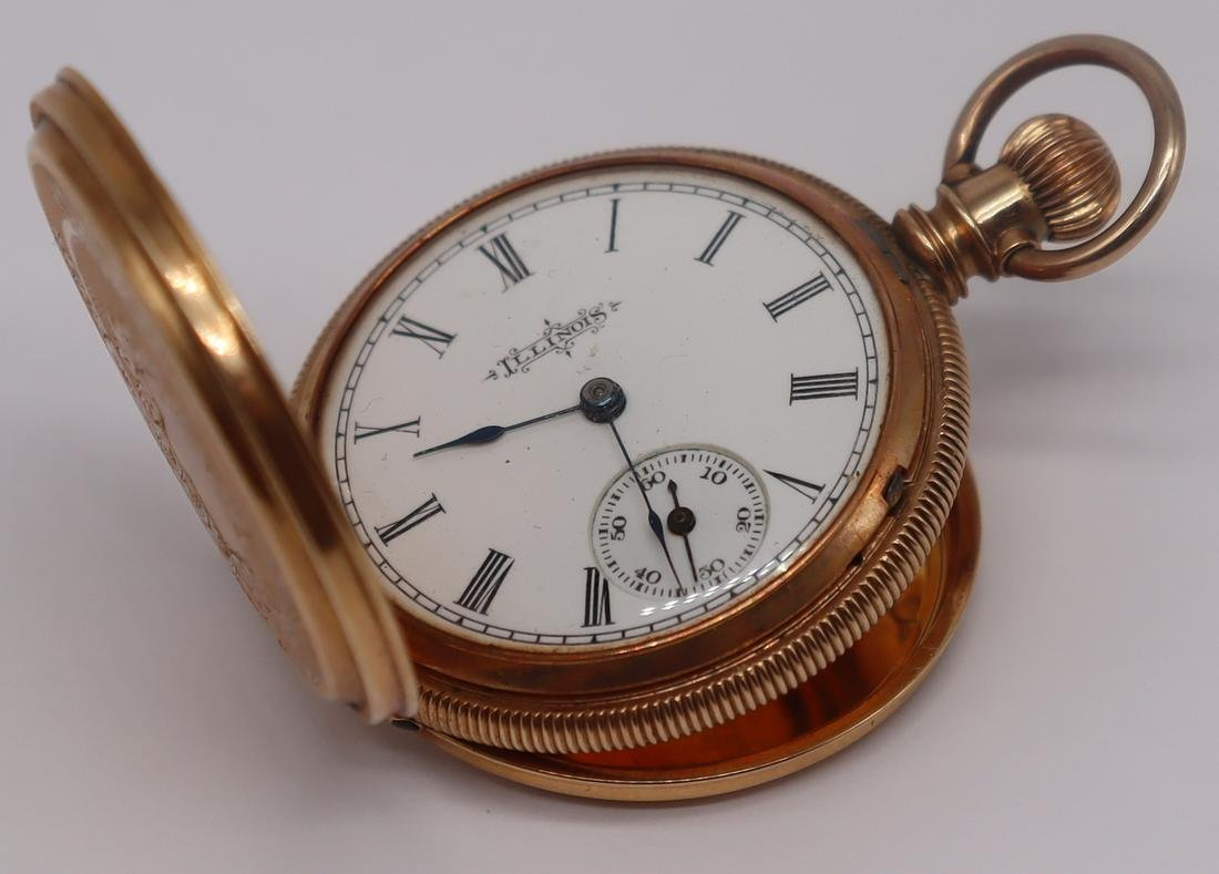JEWELRY. Vintage Illinois 14kt Gold Pocket Watch.