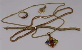 JEWELRY. Assorted 14kt Gold Jewelry Grouping