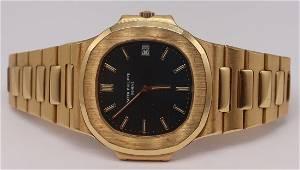 JEWELRY. Patek Philippe 18kt Gold Nautilus 3700/11
