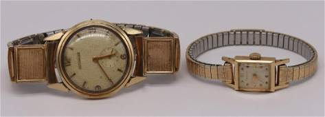 JEWELRY Mens and Ladies 14kt Gold Watches