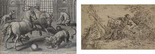 GROUPING OF OLD MASTER PRINTS.