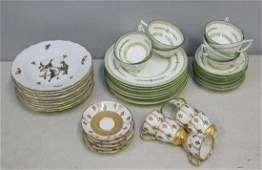 Herend Minton And Limoges Porcelain Grouping
