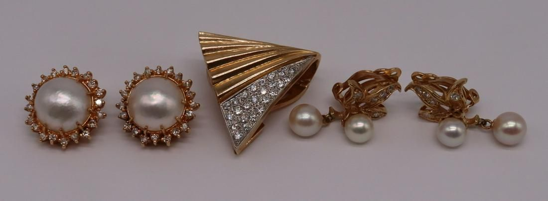 JEWELRY. Assorted Gold and Diamond Jewelry.