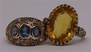 JEWELRY Estate VintageAntique Gold Ring Grouping