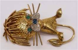 JEWELRY. Vintage/Retro 18kt Gold, Colored Gem and