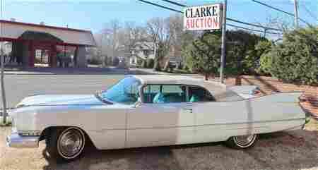 59 White Cadillac Series 62 Deville Convertible .