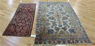 2 Antique And Finely Hand Woven Area Carpets