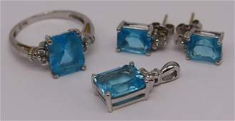 JEWELRY 14kt Gold Diamond and Colored Gem Suite