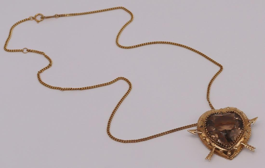 JEWELRY. 14kt Gold Pendant and 18kt Gold Chain.