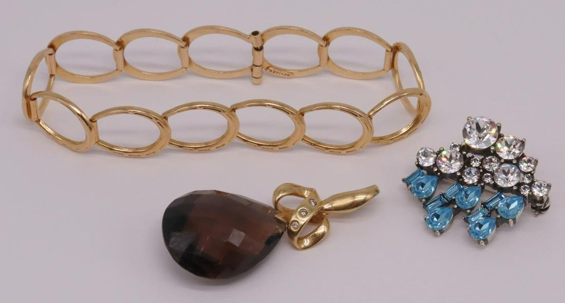 JEWELRY. Assorted 14kt Gold and Signed Jewelry.