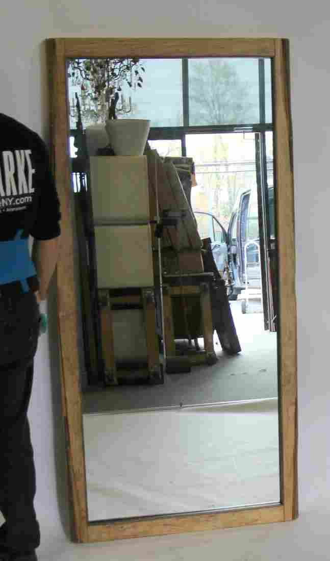 Vintage And Large Trumeau Style wood Mirror .
