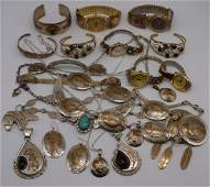 JEWELRY. Sterling and Gold-Filled Jewelry Grouping