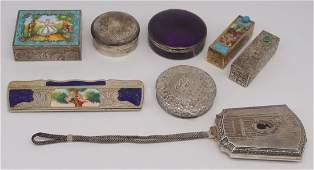 SILVER Grouping of Antique Silver Objets de Vertu