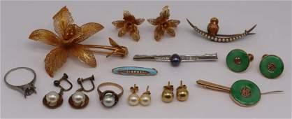 JEWELRY. Assorted Gold, Platinum & Silver Jewelry.