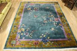 Art Deco And Finely Hand Woven Chinese Carpet