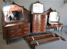 Attributed To R. J. Horner Inlaid Mahogany Bedroom
