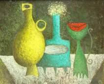 Mikhail Gubin Signed oil On Canvas Still Life