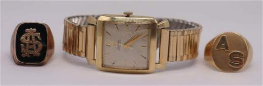JEWELRY Mens Vintage Watch and Gold Rings