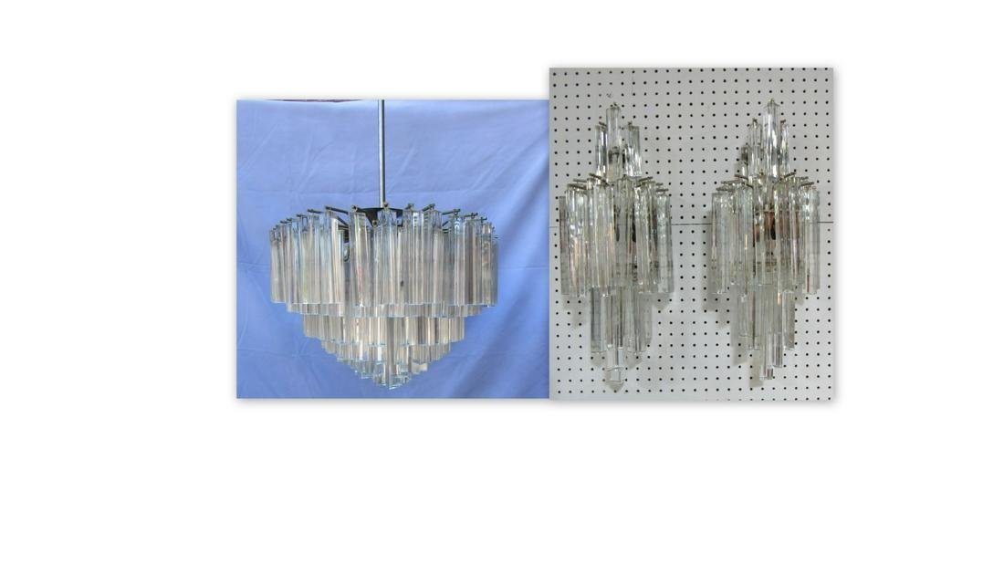 Midcentury Large Camer Chandelier And