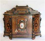 Magnificent Victorian Ebonised, Inlaid And Bronze