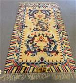 Vintage amp Fine Quality  Chinese Dragon Carpet