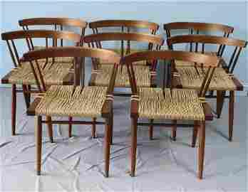 8 Mira Nakashima Grass Seated Chairs.