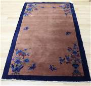 Antique Hand Woven Art Deco Peking Chinese Rug