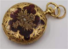 JEWELRY Patek Philippe 18kt Gold Enamel and