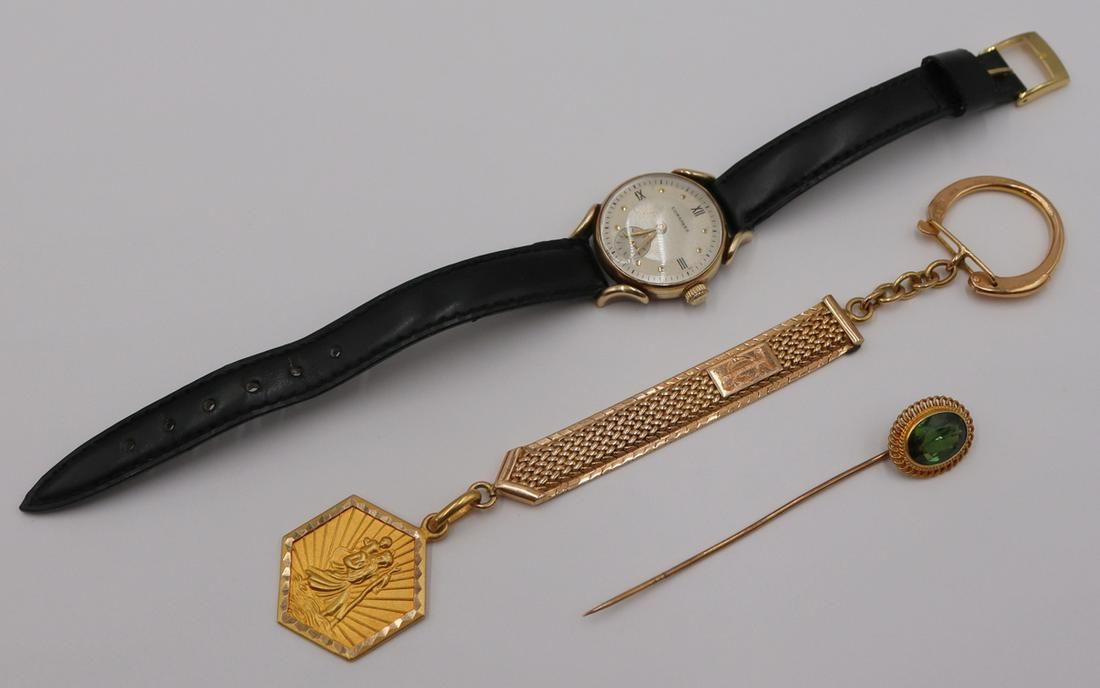 JEWELRY. 18kt and 14kt Gold Gold Grouping.