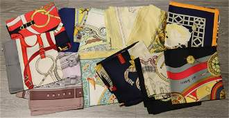 COUTURE. (10) Hermes Silk Scarves.