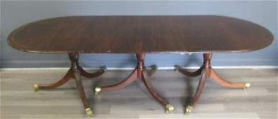 Antique Banded And Finely Carved Mahogany