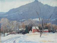 Frank Gervasi Signed Oil On Canvas quotSnow